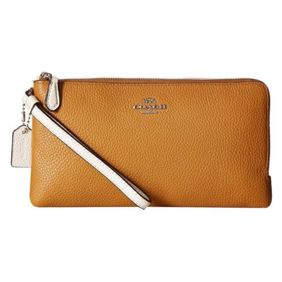 Coach Handbags - Coach Colorblock Double Zip Wallet